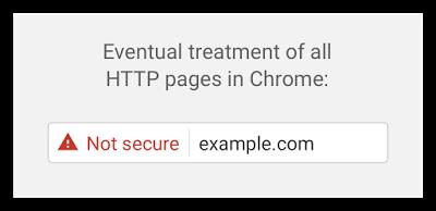 Chrome HTTP nicht sicher rot